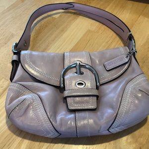 Lilac leather Coach purse